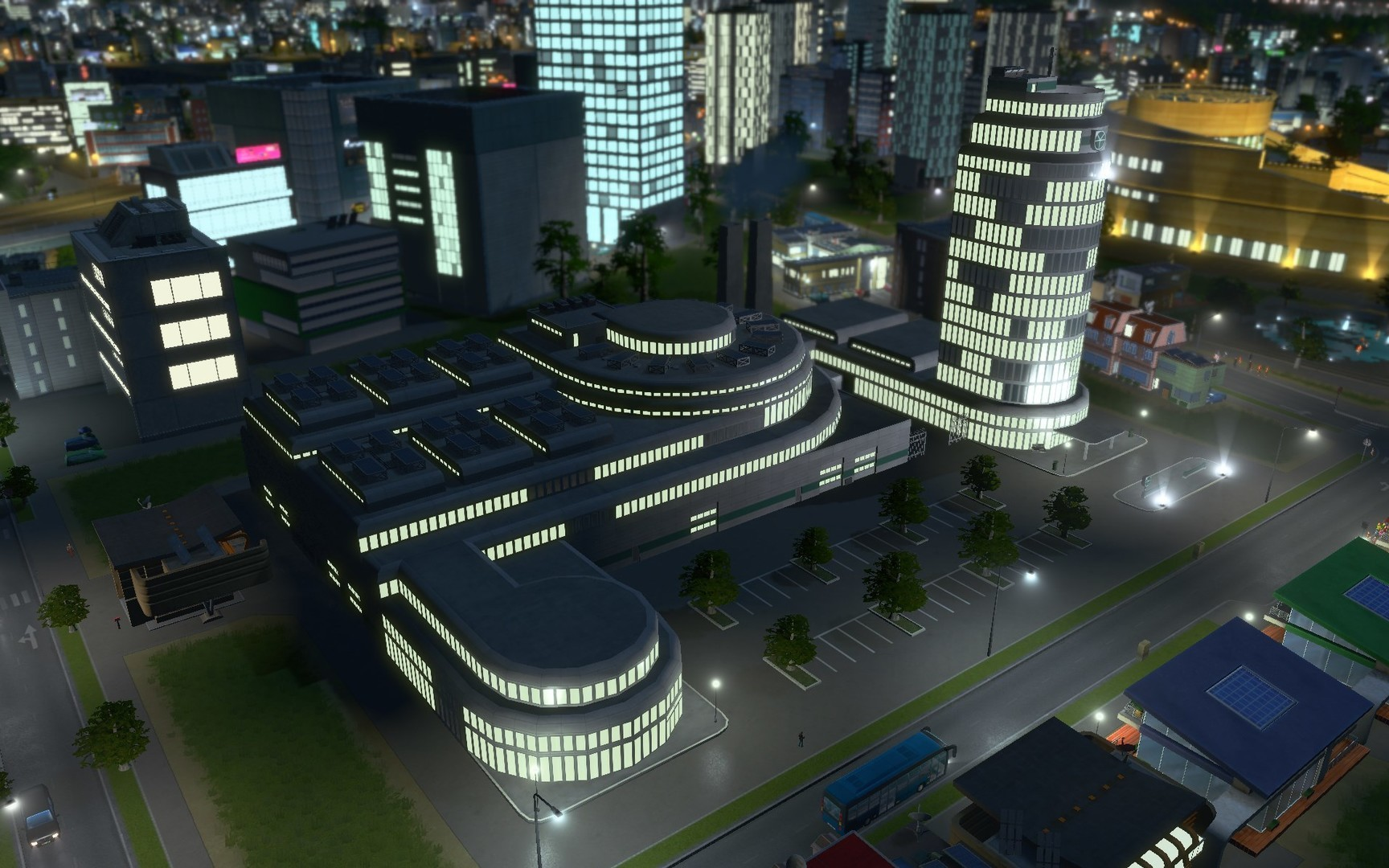how to build offices in cities skylines