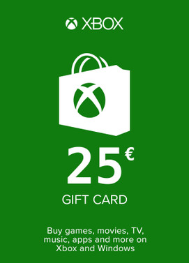 Buy Xbox Gift Card 25 Euro Area Xbox